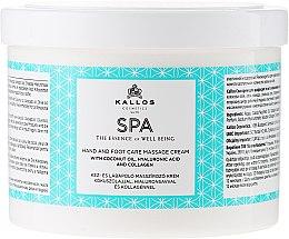 Parfüm, Parfüméria, kozmetikum Masszázskrém lábra és kézre - Kallos Cosmetics SPA Hand and Foot Care Massage Cream