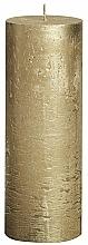 Parfüm, Parfüméria, kozmetikum Henger alakú gyertya Metallic Gold, 190/68 mm - Bolsius Candle