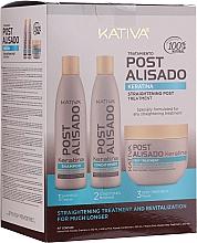 Parfüm, Parfüméria, kozmetikum Készlet - Kativa Straightening Post Treatment Keratin (shm/250ml + cond/250ml + mask/250ml)