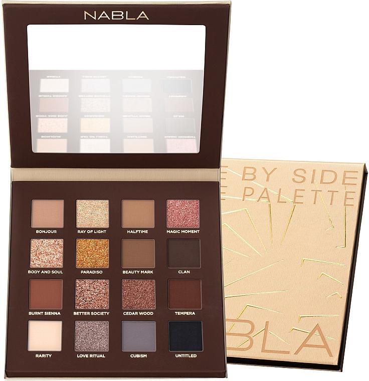 Nabla Side By Side Nude Palette - Szemhéjfesték paletta