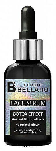 Arcszérum botox hatással - Fergio Bellaro Botox Effect Face Serum White