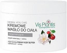 Parfüm, Parfüméria, kozmetikum Krémes testvaj - Vis Plantis Herbal Vital Care Creamy Body Butter Camellia Oil and Cherry