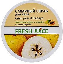 "Parfüm, Parfüméria, kozmetikum Cukros testradír ""Ázsiai körte és papaya"" - Fresh Juice Asian Pear & Papaya"