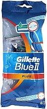 Parfüm, Parfüméria, kozmetikum Eldobható borotva, 5db - Gillette Blue II Plus