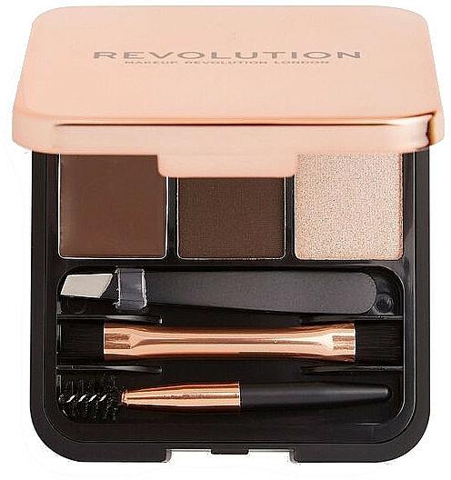 Szemöldök szett - Makeup Revolution Brow Sculpt Kit