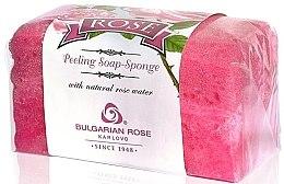 Parfüm, Parfüméria, kozmetikum Fürdőszivacs és peeling szappan - Bulgarian Rose Peeling Soap-Sponge