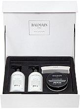 Parfüm, Parfüméria, kozmetikum Szett - Balmain Paris Hair Couture Silver Revitalizing Care Set (mask/200ml+h/couture/300ml+shampoo/300ml+brush)