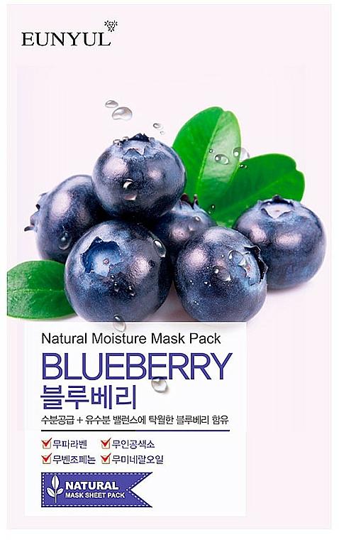 Szövetmaszk áfonya kivonattal - Eunyul Natural Moisture Blueberry Mask
