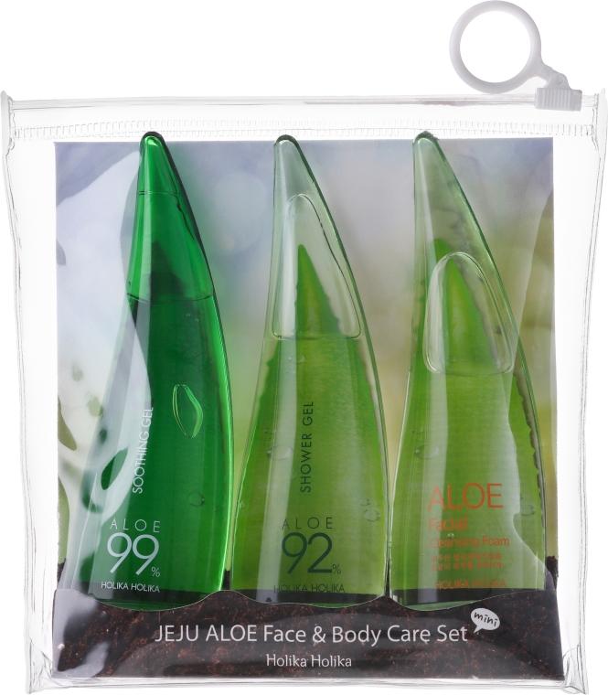 Készlet - Holika Holika Aloe Face And Body Care Set (foam/55ml + gel/55ml + sh/gel/55ml)