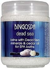 "Parfüm, Parfüméria, kozmetikum Fürdősó ""Holt-tengeri ásvány és cédrusolaj"" - BingoSpa Brine With Dead Sea Minerals For SPA Baths With Cedar And Baobab Seed Oil"