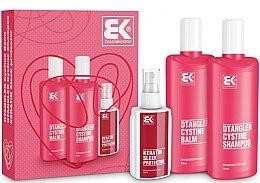 Parfüm, Parfüméria, kozmetikum Készlet - Brazil Keratin Dtangler Cystine (sh/300ml + balm/300ml + spray/100ml)