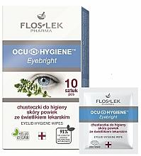 Parfüm, Parfüméria, kozmetikum Szemhéj tisztító törlőkendő - Floslek Eyebright Eyelid Hygiene Wipes