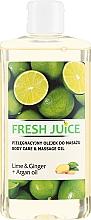 """Parfüm, Parfüméria, kozmetikum Testápoló masszázsolaj """"Lime és Gyömbér + argánolaj"""" - Fresh Juice Energy Lime&Ginger+Argan Oil"""