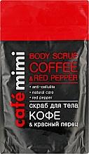 "Parfüm, Parfüméria, kozmetikum Testradír ""Kávé és piros paprika"" - Cafe Mimi Body Scub Coffee & Red Pepper"