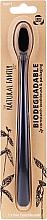 Parfüm, Parfüméria, kozmetikum Biológiai úton lebomló fogkefe, fekete - The Natural Family Co Biodegradable Toothbrush