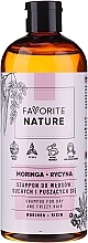 Parfüm, Parfüméria, kozmetikum Sampon száraz és göndör hajra - Favorite Nature Shampoo For Dry And Frizzy Hair Moringa & Ricin