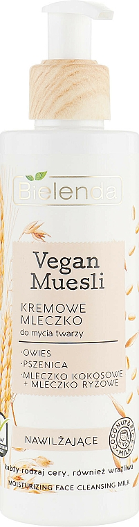 Arclemosó tej, hidratáló - Bielenda Vegan Muesli Moisturizing Face Cleaning Milk
