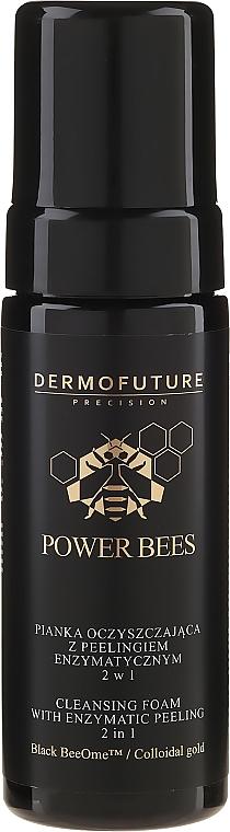 Fiatalító hab enzim peelinggel 2 az 1-ben - Dermofuture Power Bees Cleansing Foam 2in1