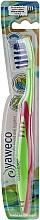 Parfüm, Parfüméria, kozmetikum Félkemény fogkefe, zöld-rózsaszín - Yaweco Toothbrush Nylon Medium