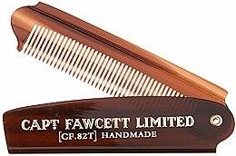 Parfüm, Parfüméria, kozmetikum Összecsukható szakálformázó fésű, CF82T - Captain Fawcett Folding Pocket Beard Comb