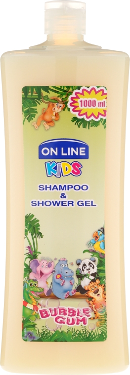 """Sampon és tusfürdő """"Bubble gum"""" - On Line Kids Shampoo & Body Wash Bubble Gum"""