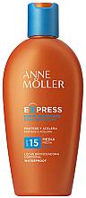 Parfüm, Parfüméria, kozmetikum Napvédő barnulást elősegítő testápoló - Anne Moller Express Sunscreen Body Milk SPF15