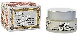 Parfüm, Parfüméria, kozmetikum Nappali világosító krém - Sostar Skin Whitening Day Cream SPF15 Enriched With Bio Donkey Milk