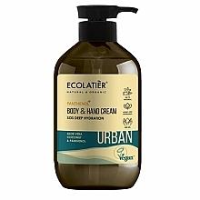 """Parfüm, Parfüméria, kozmetikum Kéz- és testkrém """"SOS Mély táplálás"""" - Ecolatier Urban Moisturizing Body & Hand Cream"""
