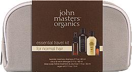 Parfüm, Parfüméria, kozmetikum Szett - John Masters Organics Essential Travel Kit For Normal Hair (sh/60ml + detangker/60ml + volumizer/30ml + oil/3ml)