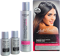 Parfüm, Parfüméria, kozmetikum Szett - Kativa Anti-Frizz Straightening Without Iron Xtreme Care (mask/150ml + shm/30ml + cond/30ml)