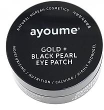 Parfüm, Parfüméria, kozmetikum Szem alatti tapasz fekete gyöngyökkel - Ayoume Gold + Black Pearl Eye Patch