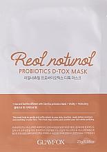 Parfüm, Parfüméria, kozmetikum Probiotikus szövetmaszk kiszáradt, fakó bőrre - Glamfox Probiotics D-Tox Mask