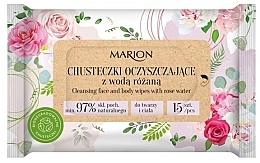 Parfüm, Parfüméria, kozmetikum Arc- és testtisztító törlőkendők rózsavízzel 15 db - Marion