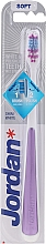 Parfüm, Parfüméria, kozmetikum Fogkefe, lágy, lila - Jordan Shiny White Toothbrush Soft
