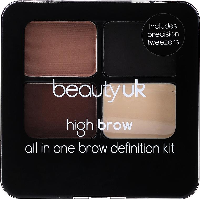 Szemöldökmodellező szett - Beauty UK High Brow and Eyebrow Kit