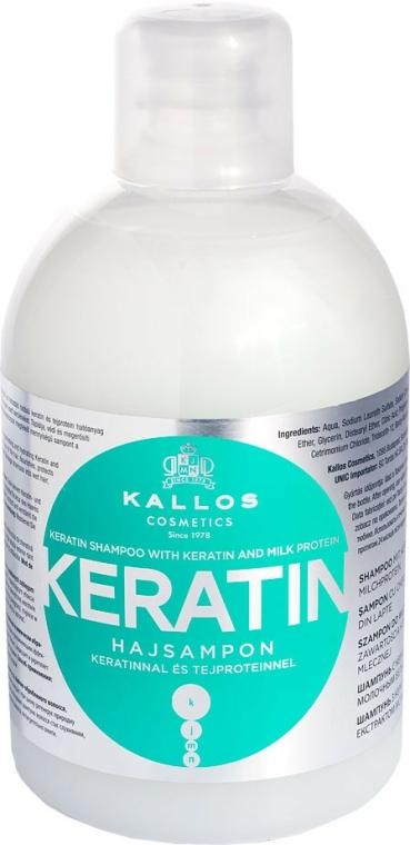 Hajsampon keratinnal és tejproteinnel - Kallos Cosmetics Keratin Shampoo