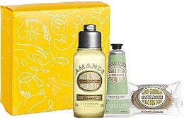Parfüm, Parfüméria, kozmetikum Készlet - L'Occitane Almond (sh/oil/75ml + h/cr/30ml + soap/50g + box)