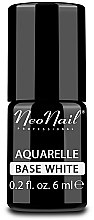 Parfüm, Parfüméria, kozmetikum Alapozó gél lakk, fehér színű - NeoNail Professional Aquarelle Base White