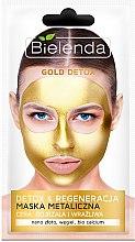 Parfüm, Parfüméria, kozmetikum Detox maszk érett és érzékeny bőrre - Bielenda Gold Detox Metallic Mask