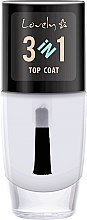 Parfüm, Parfüméria, kozmetikum Fedő gél lakk - Lovely Top Coat 3in1
