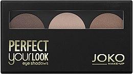 Parfüm, Parfüméria, kozmetikum Szemhéjfesték 3 színű - Joko Perfect Your Look Trio Eye Shadows