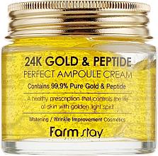 Parfüm, Parfüméria, kozmetikum Ampullás krém arannyal és peptidekkel - FarmStay 24K Gold & Peptide Perfect Ampoule Cream