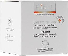 Parfüm, Parfüméria, kozmetikum Ajakbalzsam narancsvirággal és immortelle virággal - Nikel Lip Balm