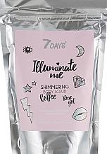 Parfüm, Parfüméria, kozmetikum Csillámló kávé testradír - 7 Days Illuminate Me Shimmering Body Scrub