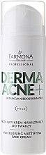 Parfüm, Parfüméria, kozmetikum Mattító krém AHA savakkal - Farmona Dermaacne+ Moisturising Mattifying Face Cream