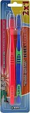 Parfüm, Parfüméria, kozmetikum Gyermek fogkefe szett, kék+piros - Kin Junior Toothbrush Pack