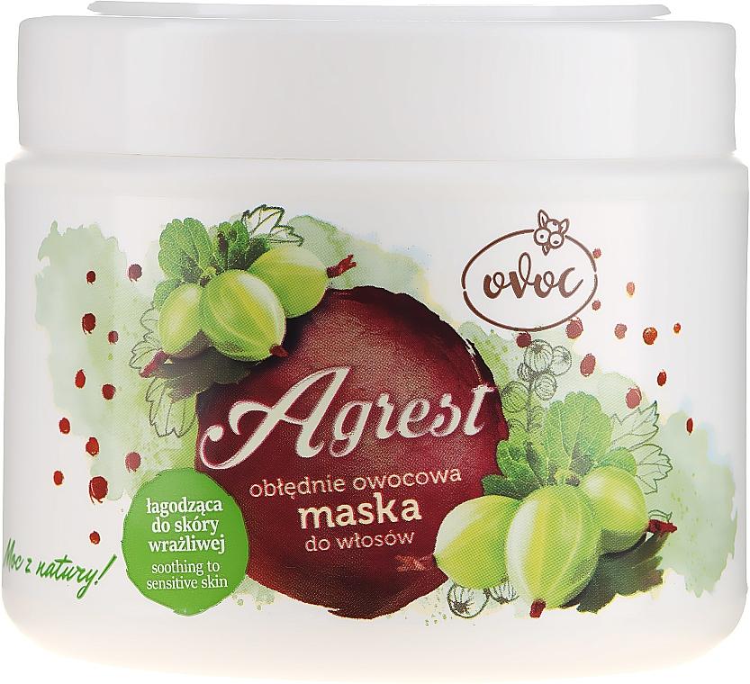 Hajmaszk egres, alga és shea kivonattal - Ovoc Agrest Mask — fotó N2