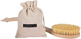 Parfüm, Parfüméria, kozmetikum Száraz masszázskefe testre tampico rosttal, dupla hajlat - Hhuumm № 6