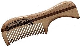 Parfüm, Parfüméria, kozmetikum Szakállfésű eco fából, 9,5 cm - Golden Beards Eco Moustache Comb