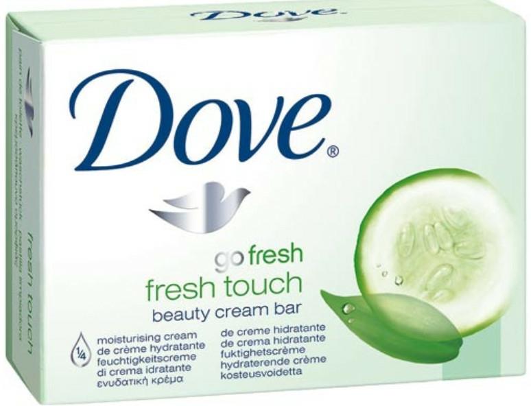 Krémszappan testre - Dove Go Fresh Fresh Touch Cream Bar With Cucumber & Green Tea Scent — fotó N1